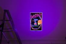 "Load image into Gallery viewer, SURF'S UP | Vintage ""Snoopy"" Blacklight Screenprint"