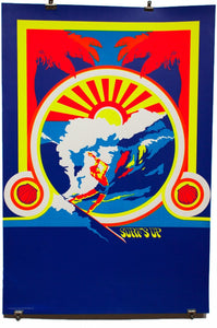SURF'S UP | Vintage Blacklight Poster