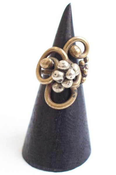 Vintage Freeform Bronze Ring