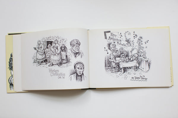 Waiting for Food | Restaurant Placemat Drawings 1
