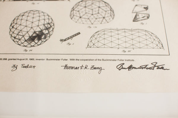 Geodesic Dome Patent Lithograph