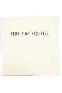 FLUXUS NECESSARIUS | The Ellsworth Snyder Collection of Fluxus Multiples and Ephemera
