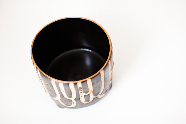 Fiel | Tall Footed Bowl Black