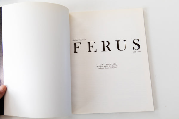THE LAST TIME I SAW FERUS 1957–1966