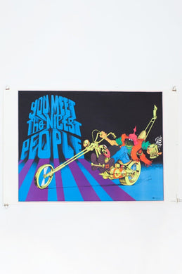 NICE PEOPLE | VINTAGE BLACKLIGHT LITHO