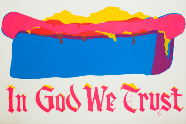 IN GOD WE TRUST | VINTAGE BLACKLIGHT SCREEN PRINT