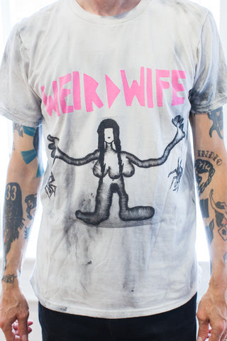WESTFALL | WEIRD WIFE T-SHIRT (grey hand–dyed)