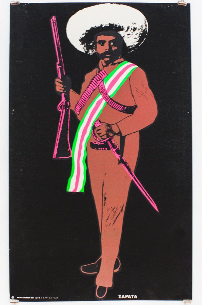 Load image into Gallery viewer, ZAPATA | VINTAGE BLACKLIGHT SCREENPRINT
