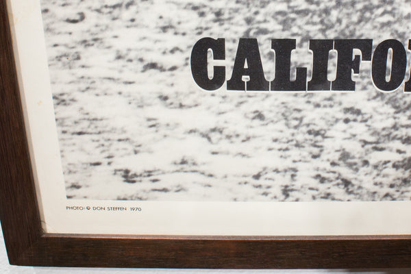 CALIFORNIA | FRAMED VINTAGE LITHO