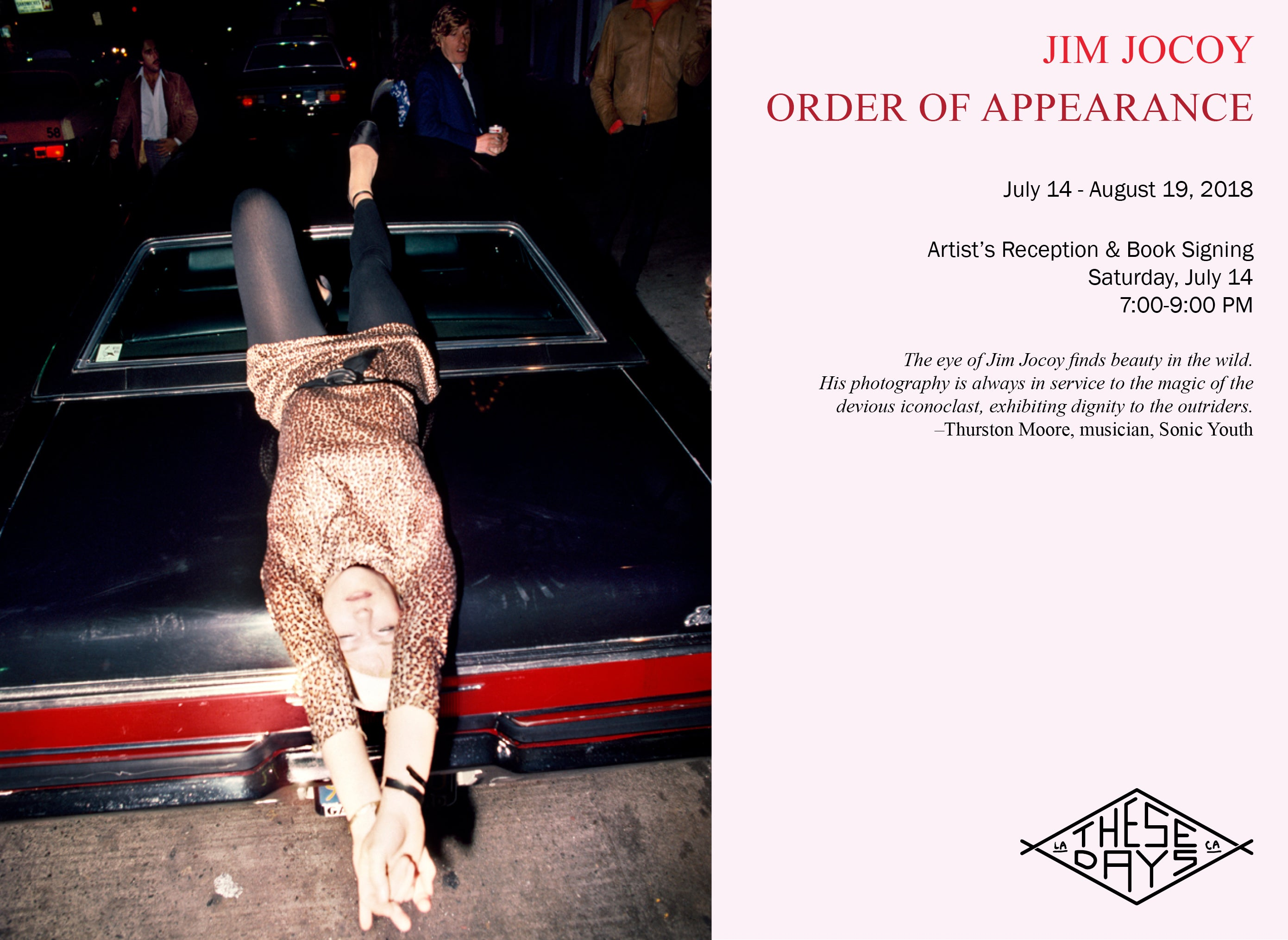 JIM JOCOY | ORDER OF APPEARANCE