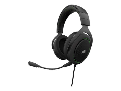 Corsair Over Ear CORSAIR Gaming HS50 STEREO - Gaming headset - Grøn / Sort
