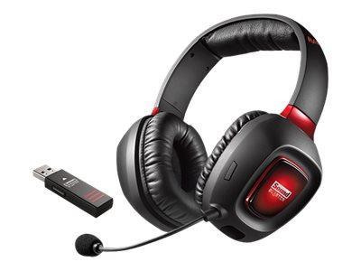 Creative Technology Over Ear Creative Sound Blaster Tactic3D Rage Wireless V2.0 Trådløs Headset - Rød / Sort