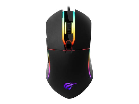 Havit Kabel mus Havit Gaming Mouse LED Wired black