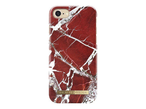 iDeal of Sweden Mobiltelefon iDeal of Sweden Fashion Case S/S18 iPhone 7 cover - Scarlet Red Marble