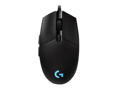 Logitech Kabel mus Logitech Gaming Mouse G Pro - Mus - optisk - 6 knapper - kabling - Sort