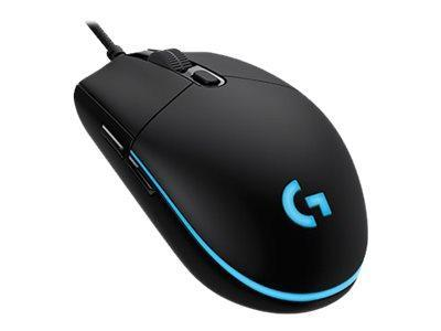 Logitech Gaming Mouse G Pro - Mus - optisk - 6 knapper - kabling - USB