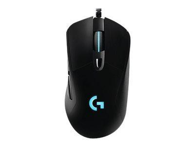 Logitech Kabel mus Logitech Gaming Mouse G403 Prodigy Optisk kablet mus - Sort