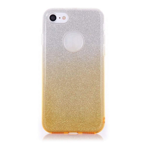MonkeyMobil.dk Covers iPhone 7 cover - Gul Glitter