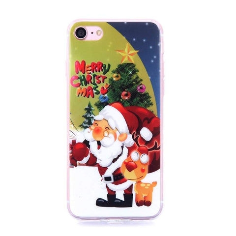 MonkeyMobil.dk Covers iPhone 7 cover - Julemand og Rudolf