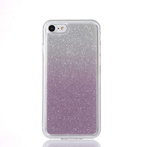 MonkeyMobil.dk Covers iPhone 7 cover - Lyslilla Glitter