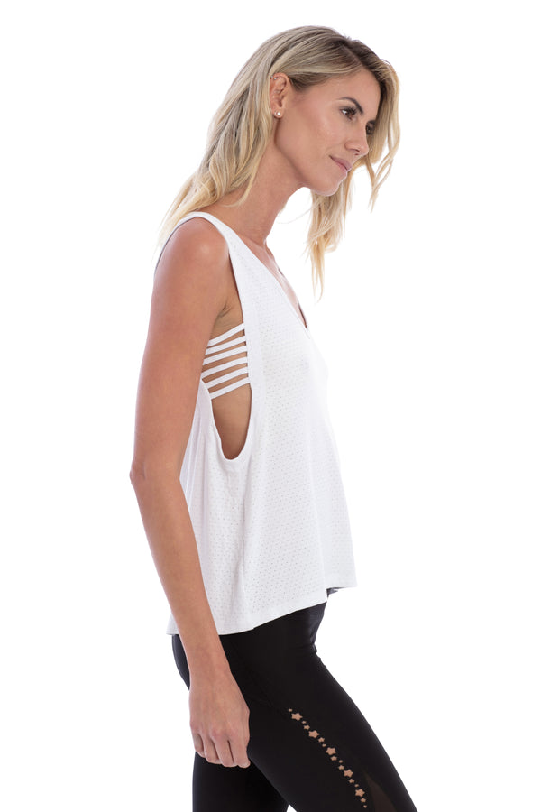 WHITE SCOOP WANDERER TANK