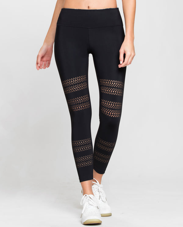 GO WITH THE FLOW LEGGINGS BLACK