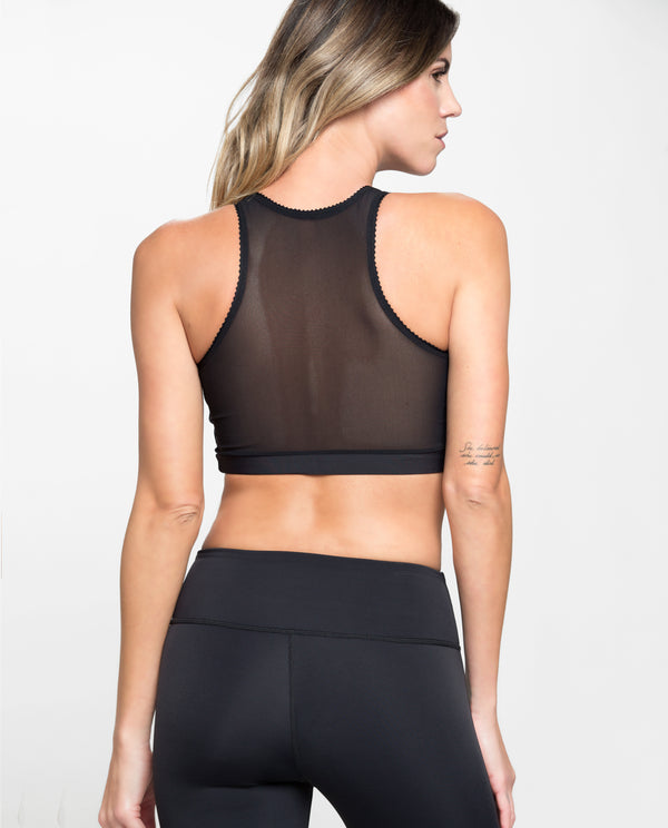 PROTAGONIST CROPPED TOP BLACK