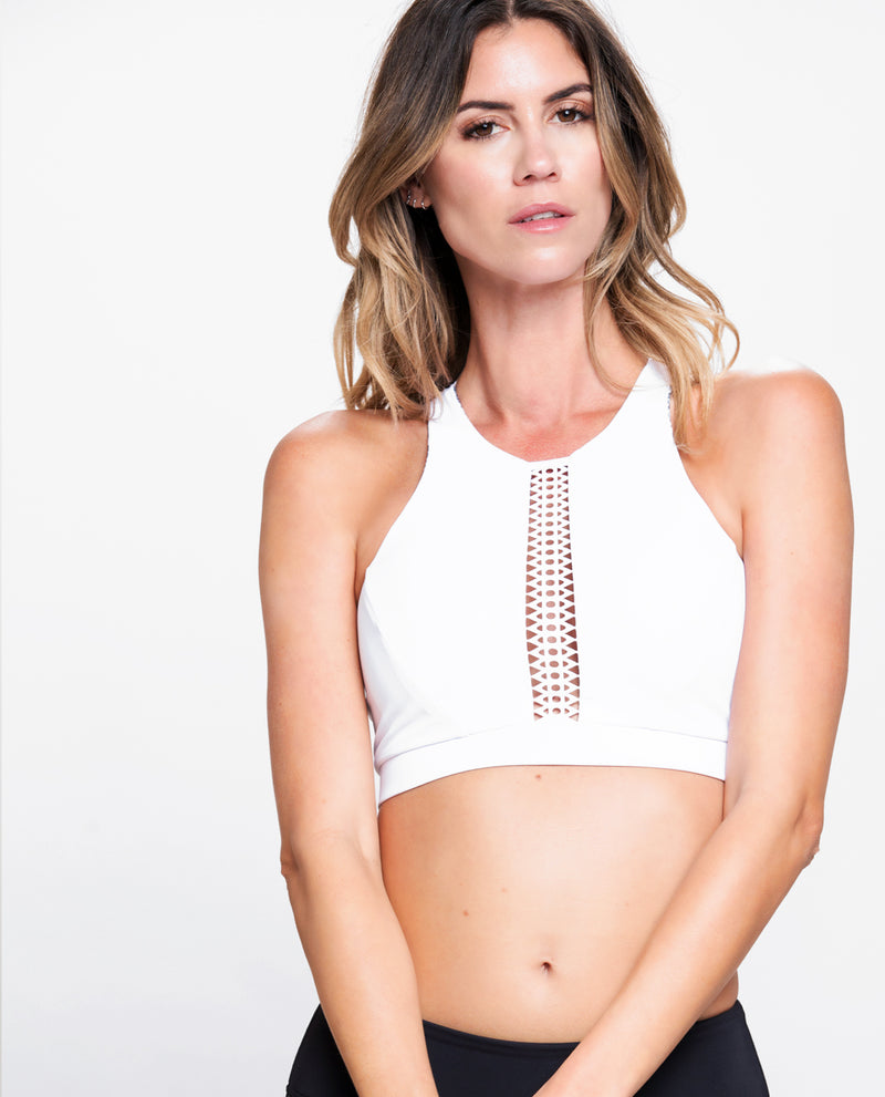 PROTAGONIST CROPPED TOP WHITE