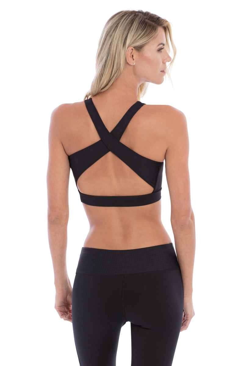 STAR CROSSED STUDDED SPORTSBRA BLACK