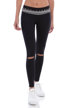 TRIANGLE STUDDED LEGGING BLACK