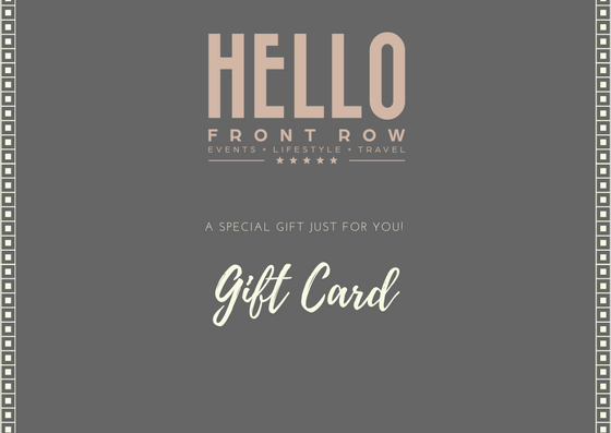 GIFT CARD - Front Row Events