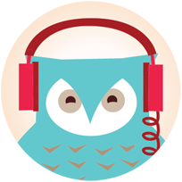 Icon of Camp Tech owl with headphones