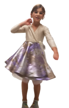 Champagne - Cache-coeur little girl dress - Robe cache-coeur fillette