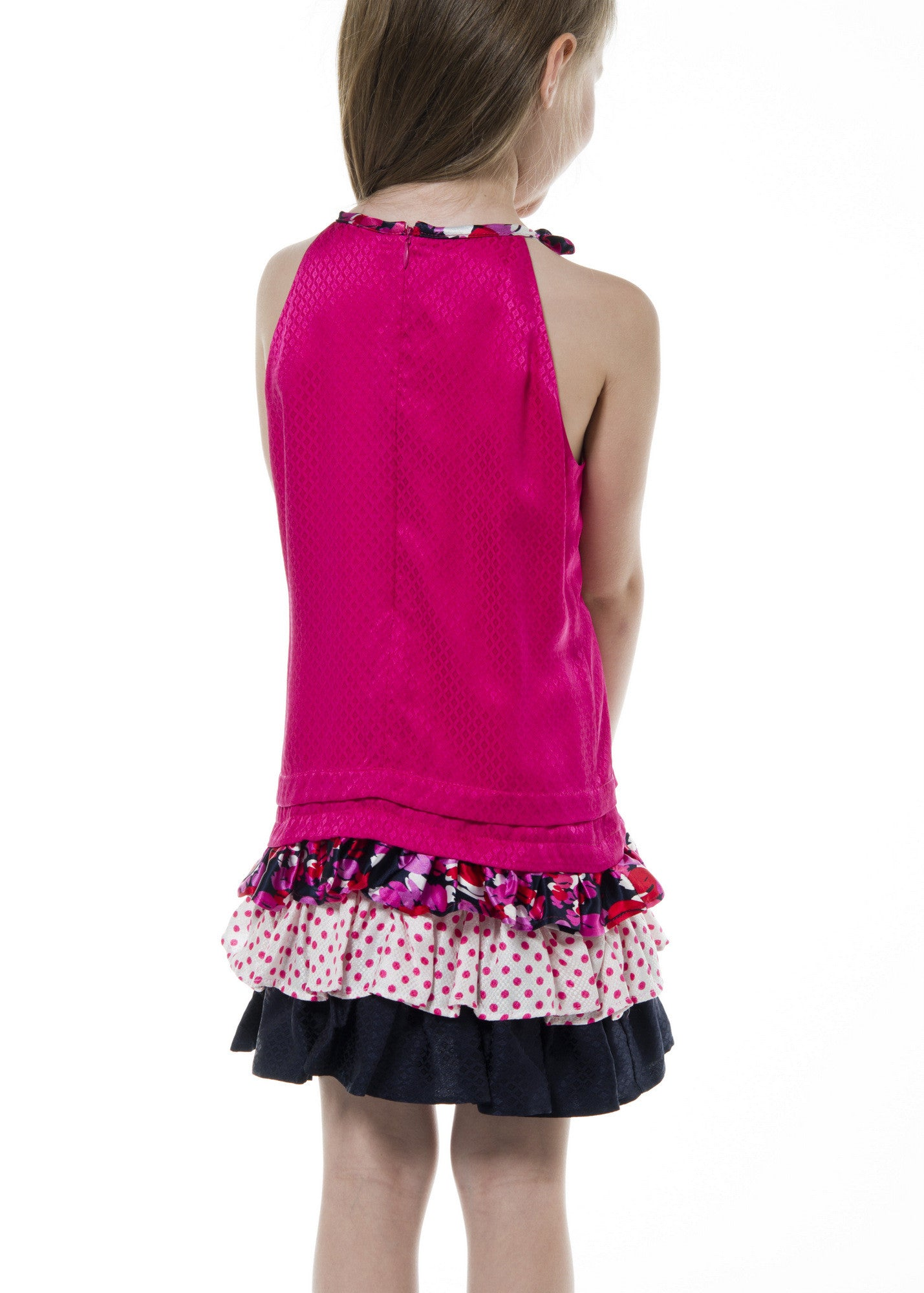 Girl Dress - Fuchsia