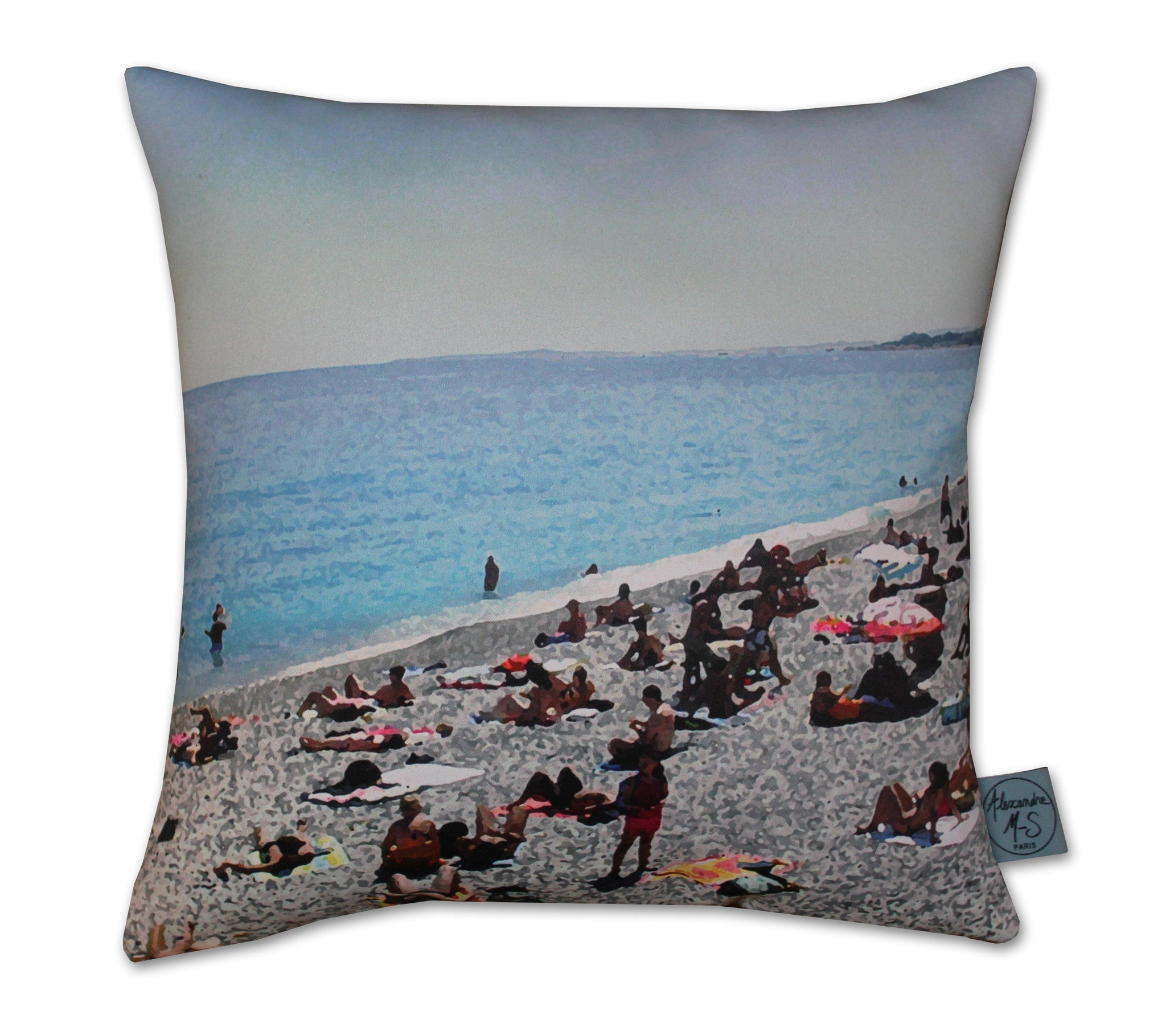 Plage Maritime Story Pillow