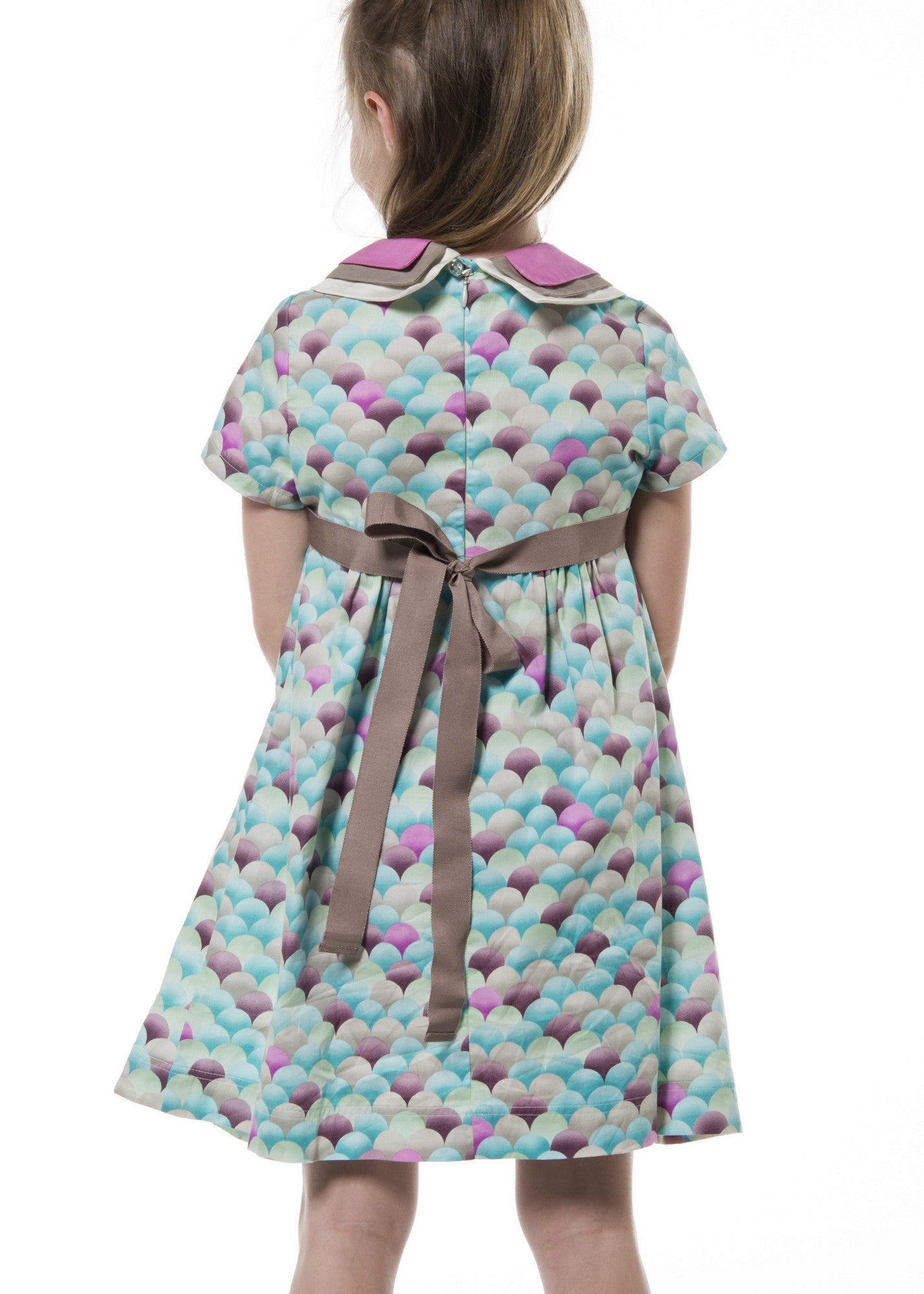 Three Collars Girl Dress - Nuages