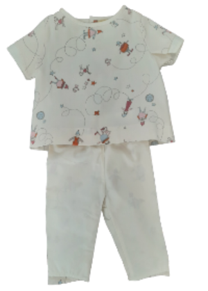 Baby Outfit - Organic cotton - clowns pattern