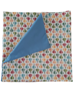 Furoshiki Blue Balloons - eco-friendly Wrapping fabric- emballage éco-responsable