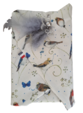 Furoshiki Birds - eco-friendly Wrapping fabric- emballage éco-responsable
