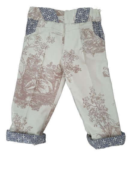 Toile de Jouy trousers unisex for kids