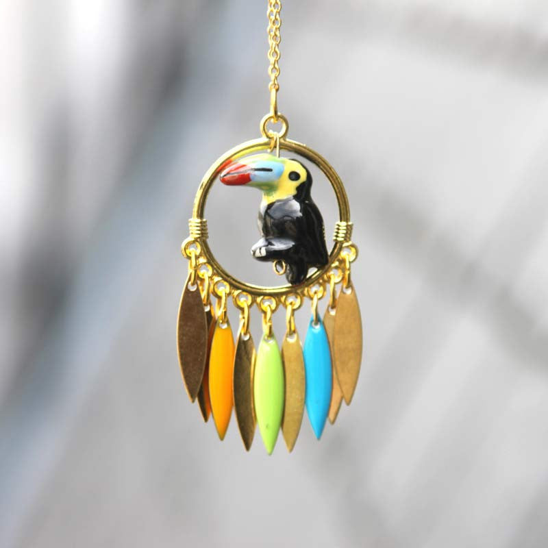 Toucan Green Necklace