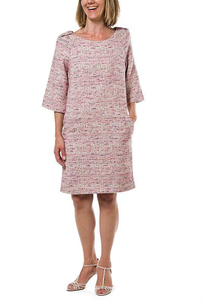 Channing Woman Dress - Mottled Beige/Red