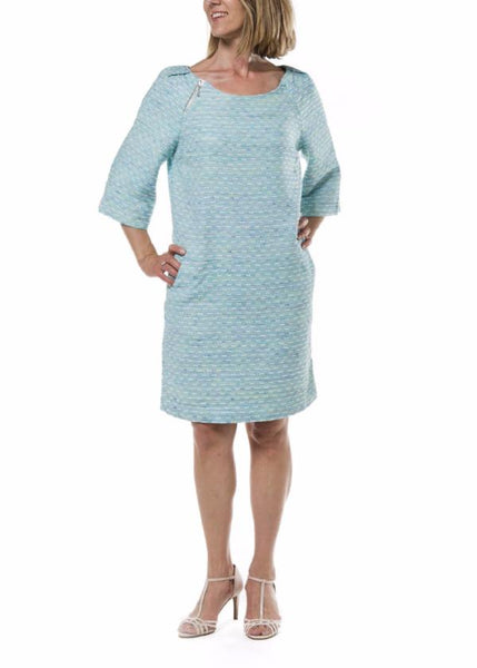 Channing Woman Dress - Mottled Turquoise