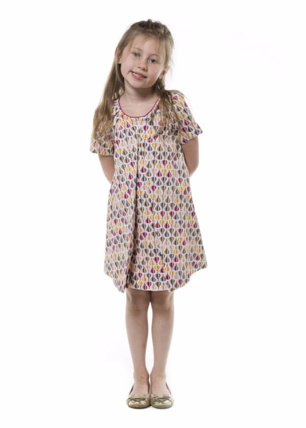 girl dress balloon print