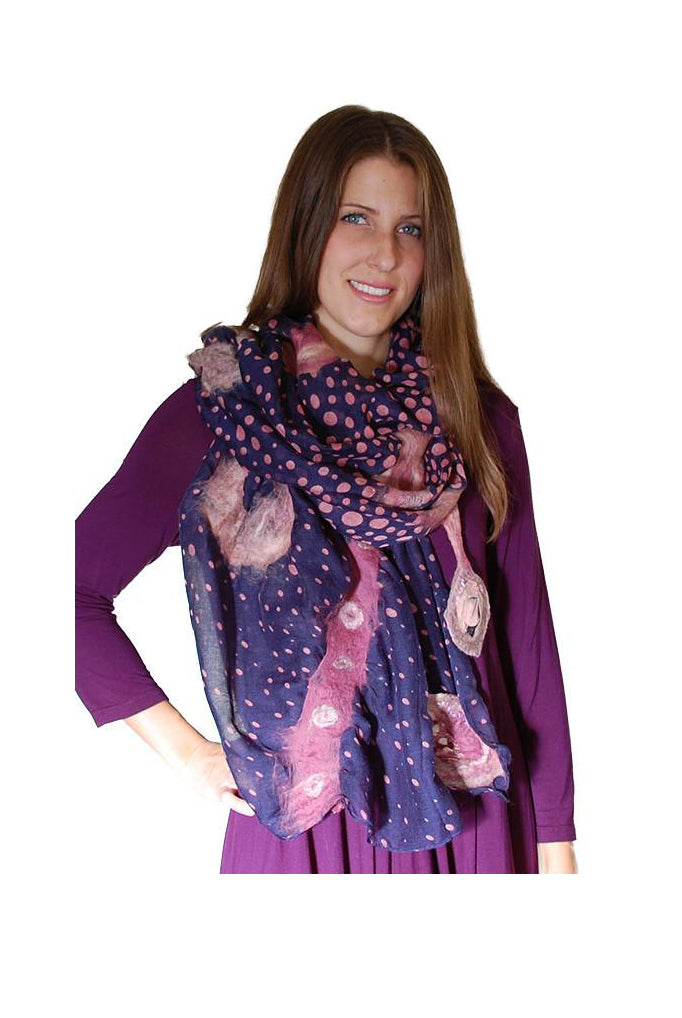 Polka dots big scarf (Pescara)