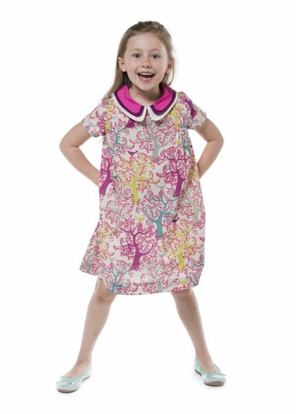 Three Collars Girl Dress - Cherry Tree