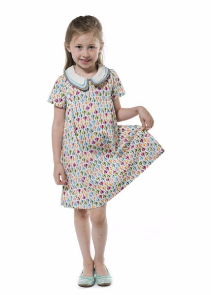 Three Collars Girl Dress - Ballooning