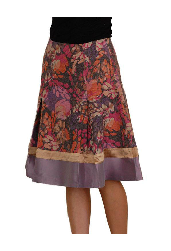 Wool and silk brown Skirt