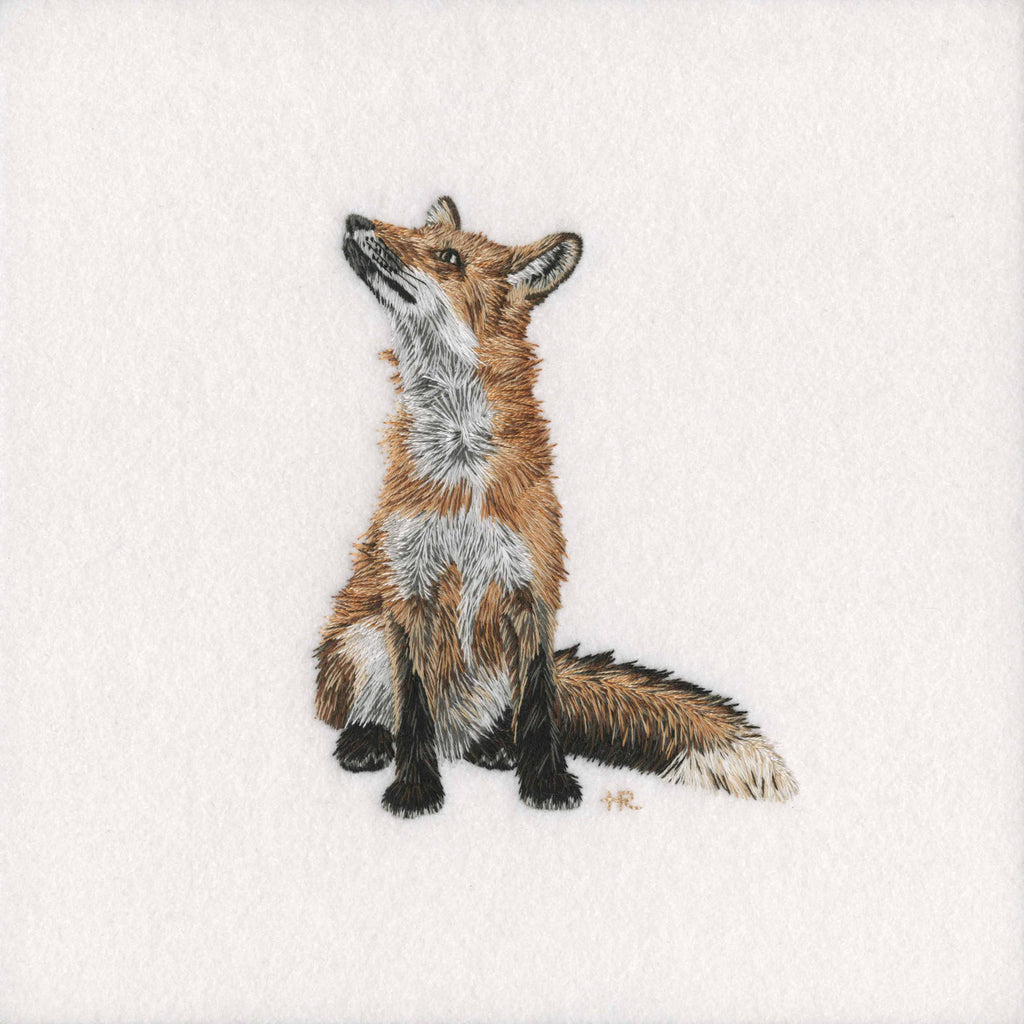 British Wildlife: Fox - Original Hand Embroidery
