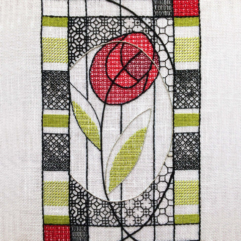 Blackwork Mackintosh Rose